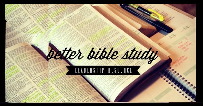 a better biblestudy