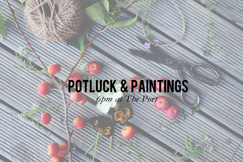 potluck and paintings