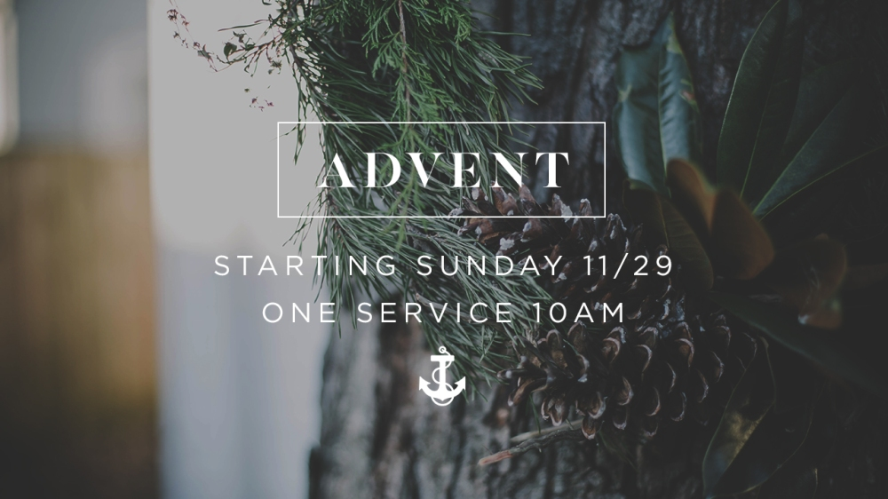 [SLIDE] Advent Sunday Service Time 1280x720
