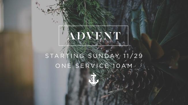 [SLIDE] Advent Sunday Service Time 1280x720